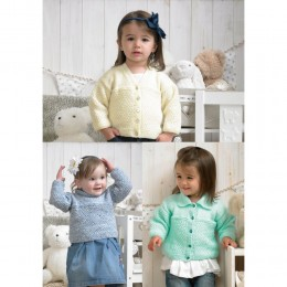 St4376 Baby Cardigans and Jumper Baby DK