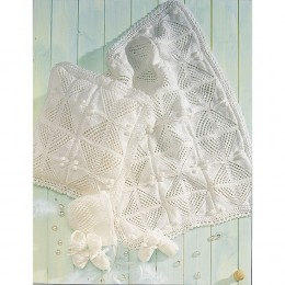 St4522 Baby Pram Cover, Cushion, Hat and Mittens Baby DK