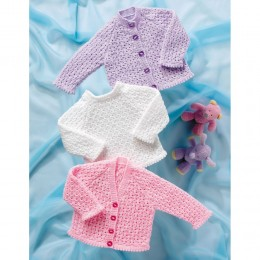 St8039 Baby Cardigans and Jumper Wondersoft 4ply