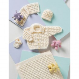 St8120 Baby Cardigan, Blanket, Hat and Mittens Wondersoft DK
