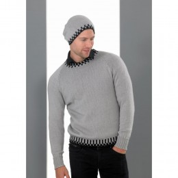 St8690 Man's Jumper and Hat Life 4ply