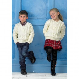 St8714 Children's Cable Jumpers Life Aran