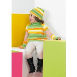 St8744 Children's Cardigan, Top, Wrist Warmers and Hat Wondersoft Merry Go Round