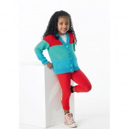 St8747 Children's Cardigan Classique Cotton DK