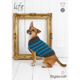 St9179 Striped Dog Coat Life Chunky