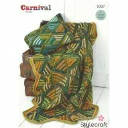 St9307 Blanket and Cushion Carnival Chunky Special Aran