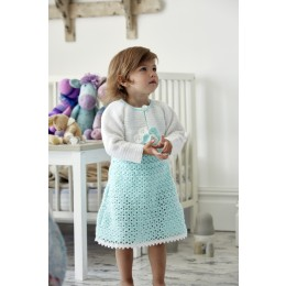 St9323 Crochet Dress for Babies and Toddlers in Wondersoft 4ply