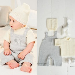 St9498 T-Shirt, Dungarees & Hat for Ages 0 to 5 Years in Stylecraft Bambino DK