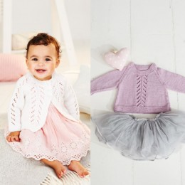 St9499 Girl's A-Line Sweater & Cardigan for Ages 0 - 5 Years in Stylecraft Bambino DK