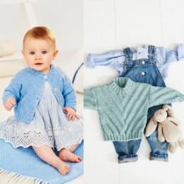 St9500 Baby / Child's Chevron Sweater & Cardigan in Stylecraft Bambino DK