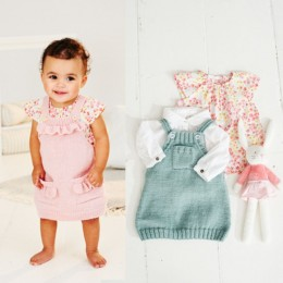 St9504 Baby / Girl's Pinafores in Stylecraft Bambino DK