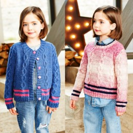 St9544 Girl's Sweater & Cardigan in Stylecraft Life Changes & Life DK