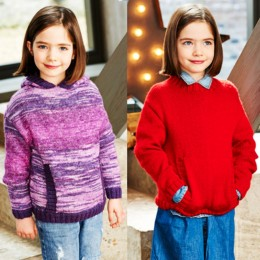 St9546 Girl's Round Neck & Hooded Sweater in Stylecraft Life Changes DK