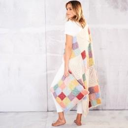 St9558 Farmhouse Patch Blanket & Cushion in Stylecraft Batik DK