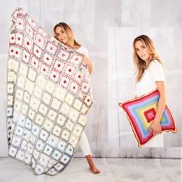St9559 Blanket & Cushion in Stylecraft Life DK