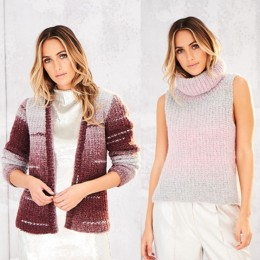 St9564 Ladies Jacket & Vest in Stylecraft Cosy Chunky