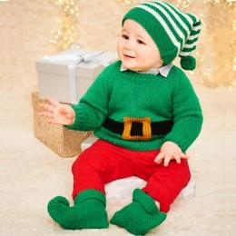 St9575 Elf Sweater, Hat & Boots in Stylecraft Wondersoft Stardust DK