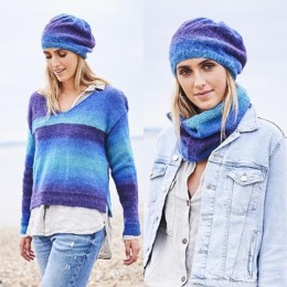 St9596 Ladies Sweater, Beret & Snood in Dream Catcher DK