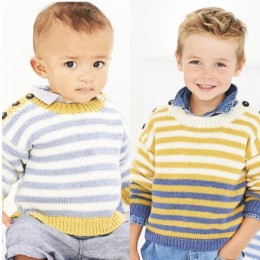 St9603 Boy's Sweaters for Ages 0 to 7 Years in Stylecraft Bambino DK