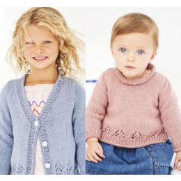 St9606 Girl's from 0 to 5 Years A-Line Jumper & Cardigan in Stylecraft Bambino DK