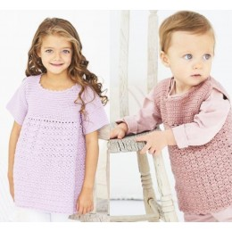 St9607 Crochet Cabbage Patch Dresses in Stylecraft Bambino DK