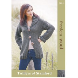 TRT9085 Ladies Cardigan with Collar Freedom Wool
