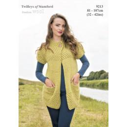 TRT9213 Ladies Short Sleeved Cardigan Freedom Wool