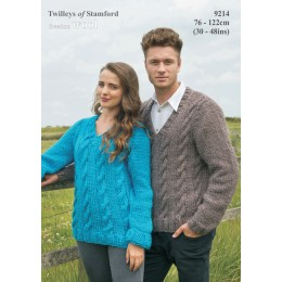 TRT9214 Adult Cable Jumper Freedom Wool