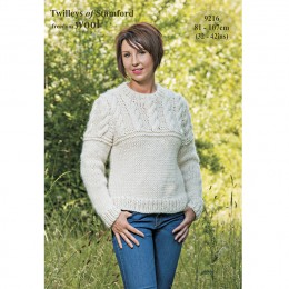 TRT9216 Ladies Cable Jumper Freedom Wool