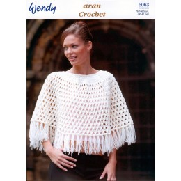 TRW5063 Ladies Poncho and Cape Aran