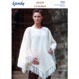 TRW5064 Ladies Poncho and Cape Aran