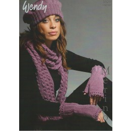 TRW5529 Ladies Scarf, Hat and Mittens DK