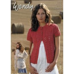 TRW5658 Ladies Shawl and Cardigan Wendy Supreme Luxury Cotton Chunky