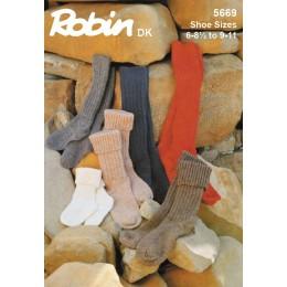 TRW5669 Adults and Children's Socks DK