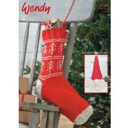 TRW5753 Christmas Stocking and Gnome Christmas Pattern Aran