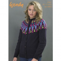 TRW5761 Ladies Cardigan Wendy Mode DK