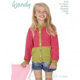 TRW5778 Children's Cardigan Wendy Supreme Luxury Cotton DK