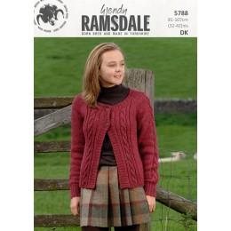TRW5788 Ladies Cardigan Wendy Ramsdale DK