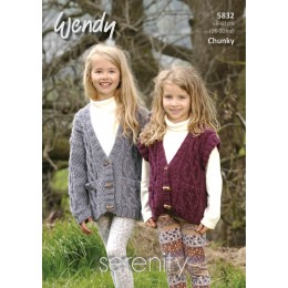 TRW5832 Children's Cardigan and Waistcoat Wendy Serenity Chunky