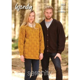 TRW5834 Adult Cardigan and Jumper Wendy Serenity Chunky