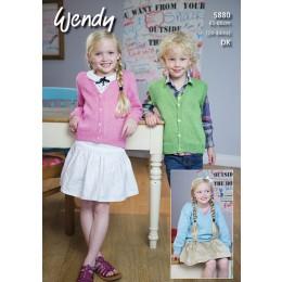 TRW5880 Children's Cardigan, Jumper and Waistcoat DK