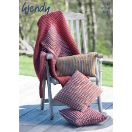 TRW5915 Blanket and Cushions Wendy Cairn Aran