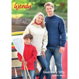 TRW5943 Adult and Children Jumpers Wendy Guernsey 5ply