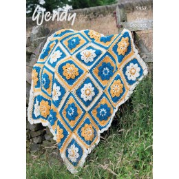 TRW5957 Flower Garden Throw Aran