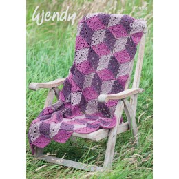 TRW5958 Crochet Throw and Cushion Aran