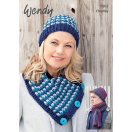 TRW5963 Adult Hats and Scarves Chunky