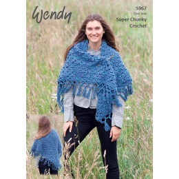 TRW5967 Ladies Shawl Wendy Serenity Super Chunky