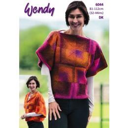 TRW6044 Lady's Patchwork Sweater & Kimono Jacket in Wendy Aurora DK