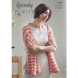 TRW6051 Shawl for women in Wendy Purity