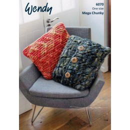 TRW6070 Two Cushion Designs for the Home in Wendy Dynamic Mega Chunky